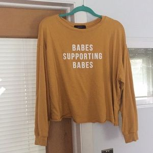 Babes Supporting Babes cropped sweatshirt